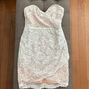 Lush strapless lace dress